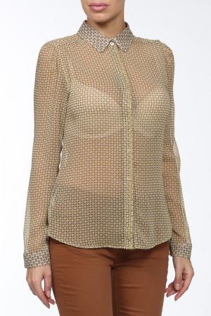 Рубашка-блузка Motivi. Цвет: желтый, принт