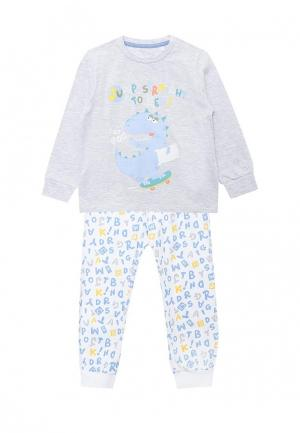 Пижама Chicco. Цвет: серый