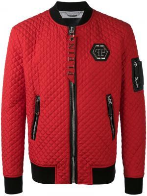 Куртка-бомбер Okyo Philipp Plein. Цвет: красный