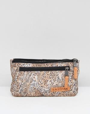 Eastpak Сумка-кошелек на пояс с леопардовым принтом Talky. Цвет: серый