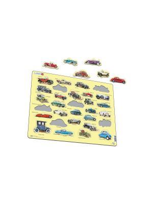 Пазл Авто LARSEN AS. Цвет: белый, голубой, желтый, зеленый, оранжевый, синий