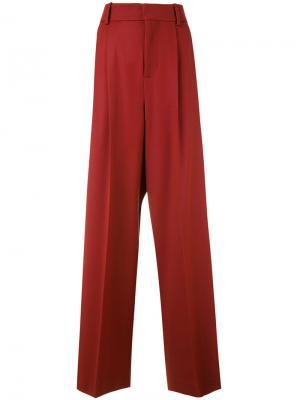 Расклешенные брюки с завышенной талией Marni. Цвет: красный