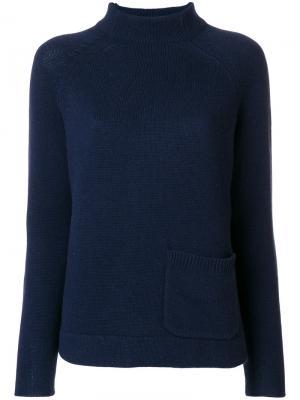 Джемпер с накладным карманом Allude. Цвет: синий