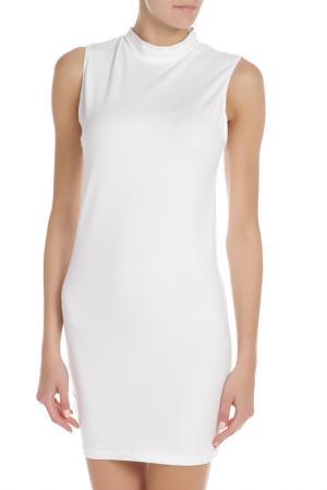 Прилегающее платье с воротником стойка American Apparel. Цвет: белый