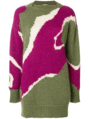 Объемный свитер с узором Wunderkind. Цвет: многоцветный