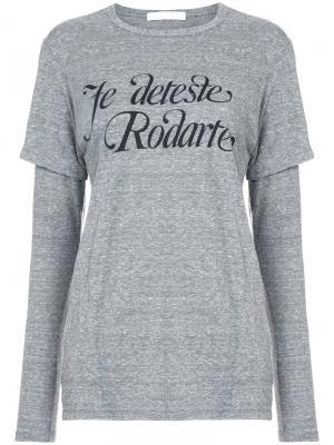 Je Deteste  layered T-shirt Rodarte. Цвет: серый