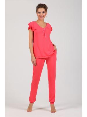 Пижама NicClub. Цвет: коралловый