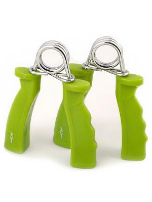Эспандер кистевой STAR FIT ES-301 пружинный, жесткая ручка, зеленый (2шт.) starfit. Цвет: зеленый