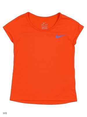 Футболка G NK TOP SS Nike. Цвет: оранжевый