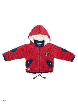 Вельветовая курточка на синтепоне Happy Bear. Цвет: красный, синий