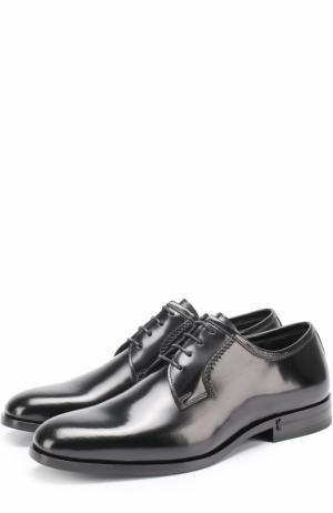 Кожаные дерби Montaigne на шнуровке Saint Laurent. Цвет: черный