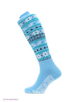 Домашние гольфы HOSIERY. Цвет: голубой, синий