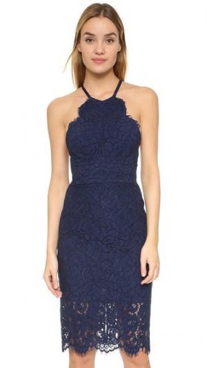 Платье Oasis с американской проймой Lover. Цвет: темно-синий