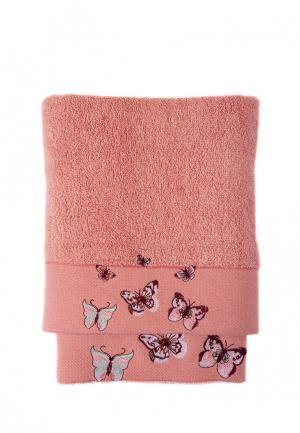 Комплект полотенец 2 шт. La Pastel. Цвет: коралловый