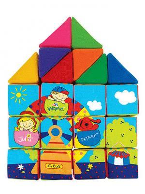 Кубики мягкие K'S Kids. Цвет: голубой (осн.), синий