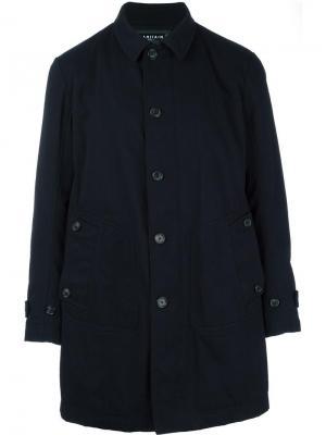 Однобортное пальто Ahirain. Цвет: синий