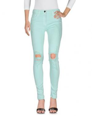 Джинсовые брюки ELISABETTA FRANCHI JEANS. Цвет: кислотно-зеленый