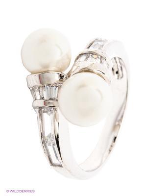 Кольцо Krikos. Цвет: серебристый, белый