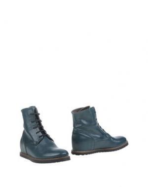 Полусапоги и высокие ботинки LILIMILL. Цвет: цвет морской волны