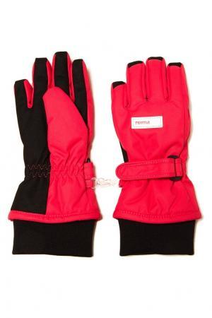 Красные перчатки Reima. Цвет: розовый