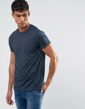 Jack Wills Темно-синяя облегающая футболка с карманом Ayleford. Цвет: темно-синий