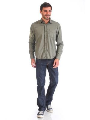Рубашка VON DUTCH. Цвет: оливковый