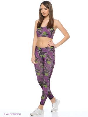 Леггинсы EZE. Цвет: фиолетовый, зеленый