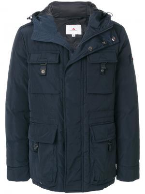 Дутая куртка с капюшоном Peuterey. Цвет: синий
