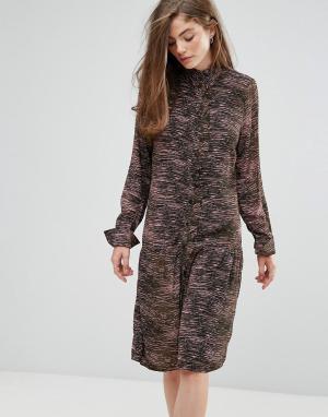 Gestuz Платье с принтом Iva. Цвет: зеленый