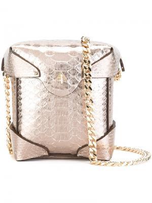 Маленькая сумка через плечо Pristine Manu Atelier. Цвет: металлический