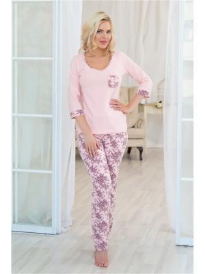 Домашний костюм Mia Cara. Цвет: розовый, фиолетовый