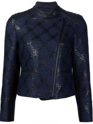 Байкерская куртка Diamond Plaid Yigal Azrouel. Цвет: чёрный