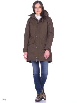Куртка демисезонная Tenson. Цвет: коричневый