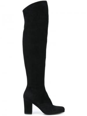 Ботфорты на каблуке Antonio Barbato. Цвет: чёрный