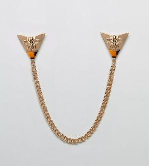 Reclaimed Vintage Золотистое украшение для воротника с камнями Inspire. Цвет: золотой