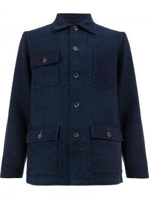 Куртка с накладными карманами Fdmtl. Цвет: синий