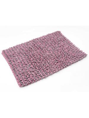 Мягкий коврик для ванной комнаты 60х90 см Graph WESS. Цвет: розовый, фиолетовый