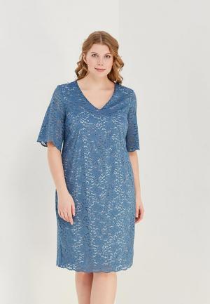 Платье Bonne Femme. Цвет: голубой