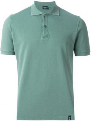 Классическая футболка-поло Drumohr. Цвет: зелёный