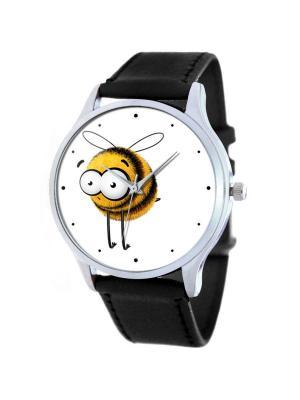 Дизайнерские часы Bee Tina Bolotina. Цвет: черный, белый, желтый