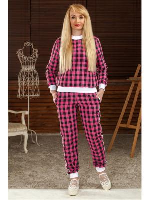 Спортивный костюм Розовая клетка MARRUSHKA. Цвет: черный, розовый