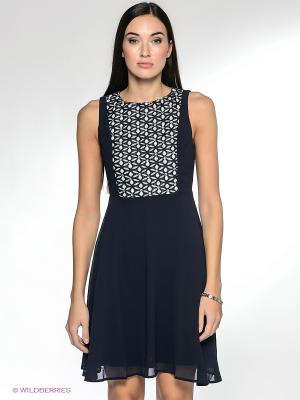 Платье NikiBiki. Цвет: темно-синий, белый
