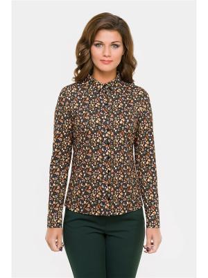 Блузка Modern. Цвет: коричневый