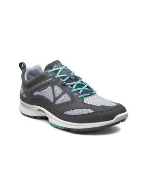 Спортивные ботинки ECCO. Цвет: темно-серый, голубой