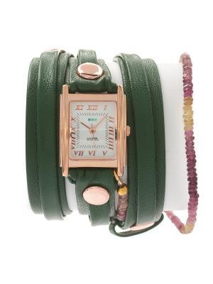 Часы La Mer Collections Stones Rainbow Tourmaline Emerald. Цвет: зеленый