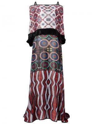 Платье с принтом Afroditi Hera. Цвет: многоцветный