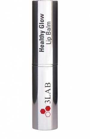 Бальзам для губ «Здоровое Сияние» с эффектом объема 3LAB. Цвет: бесцветный