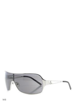 Солнцезащитные очки VW 586 01 Vivienne Westwood. Цвет: серебристый, черный