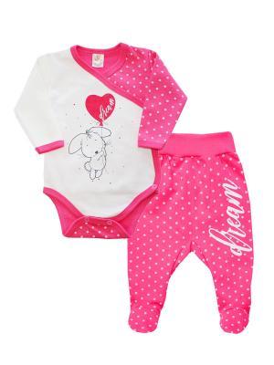 Комплект одежды: ползунки, боди-распашонка Коллекция DREAM КОТМАРКОТ. Цвет: розовый