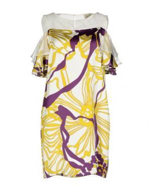 Короткое платье KI6? WHO ARE YOU?. Цвет: слоновая кость